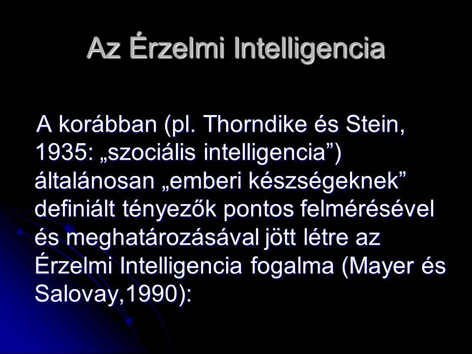 Az Érzelmi Intelligencia A korábban (pl.