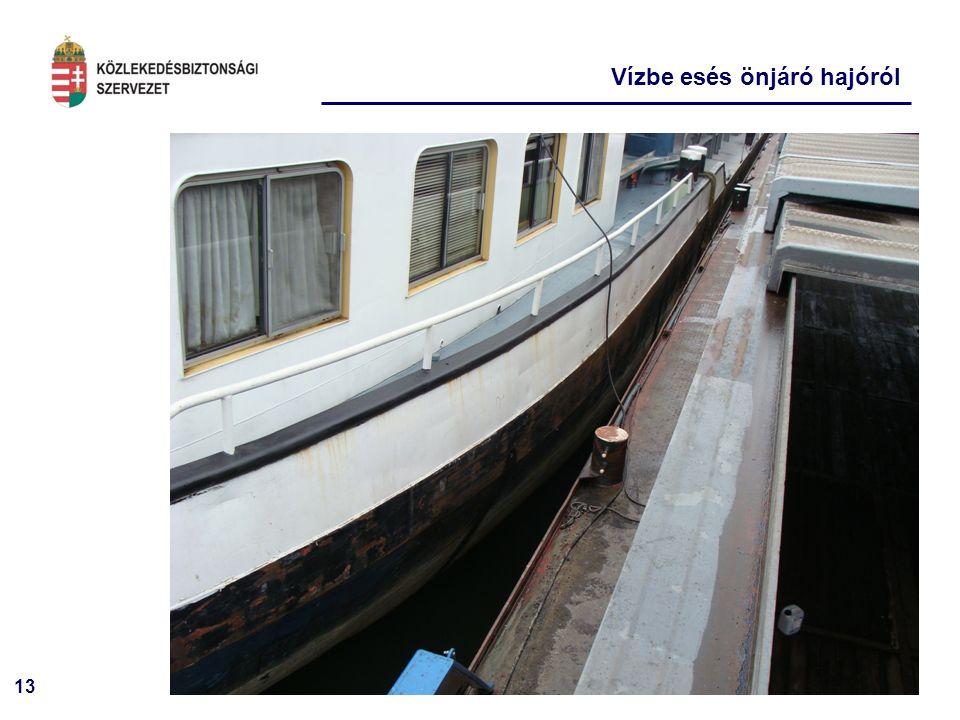 13 Vízbe esés önjáró hajóról