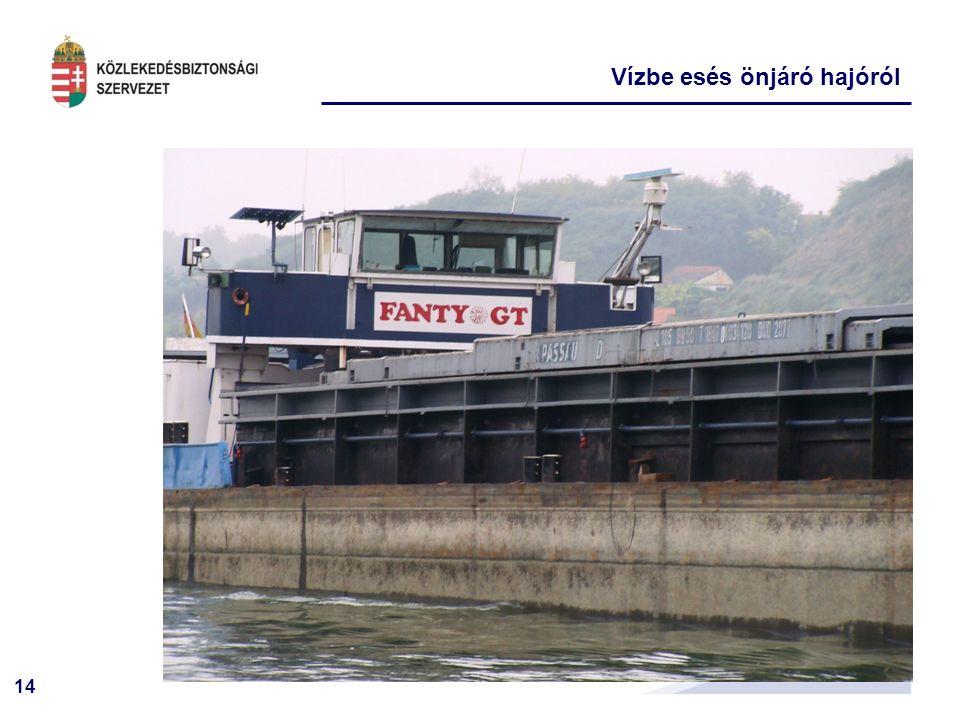 14 Vízbe esés önjáró hajóról