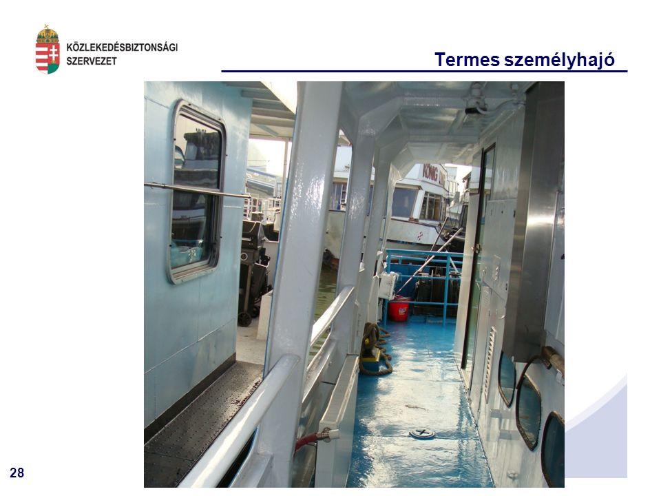 28 KÖSZÖNÖM Termes személyhajó