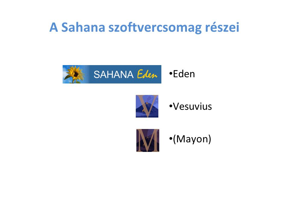 A Sahana szoftvercsomag részei Eden Vesuvius (Mayon)