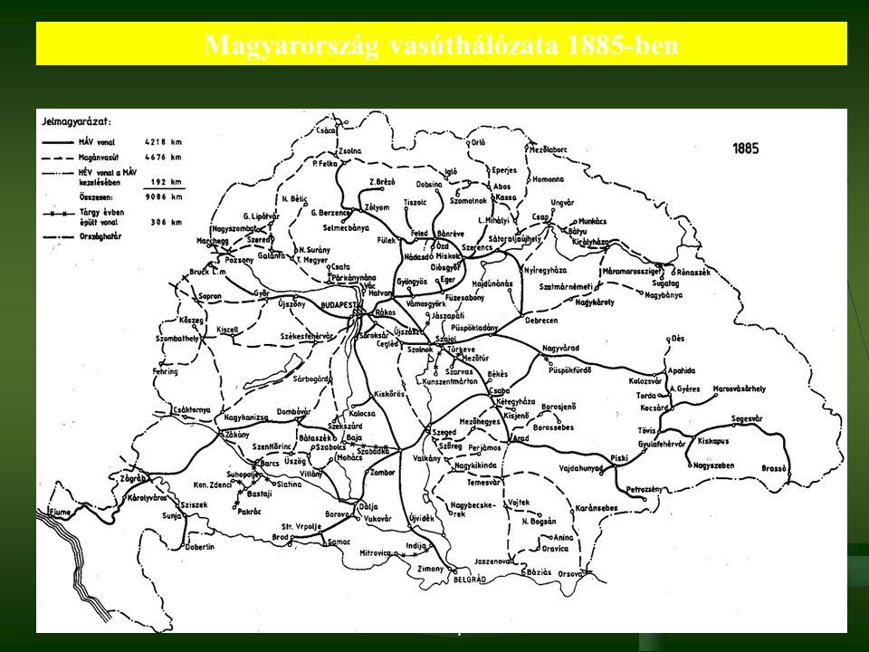 2016. 09. 22. Dr. Parragh László, elnök, Magyar Kereskedelmi és Iparkamara15 Magyarország vasúthálózata 1885-ben