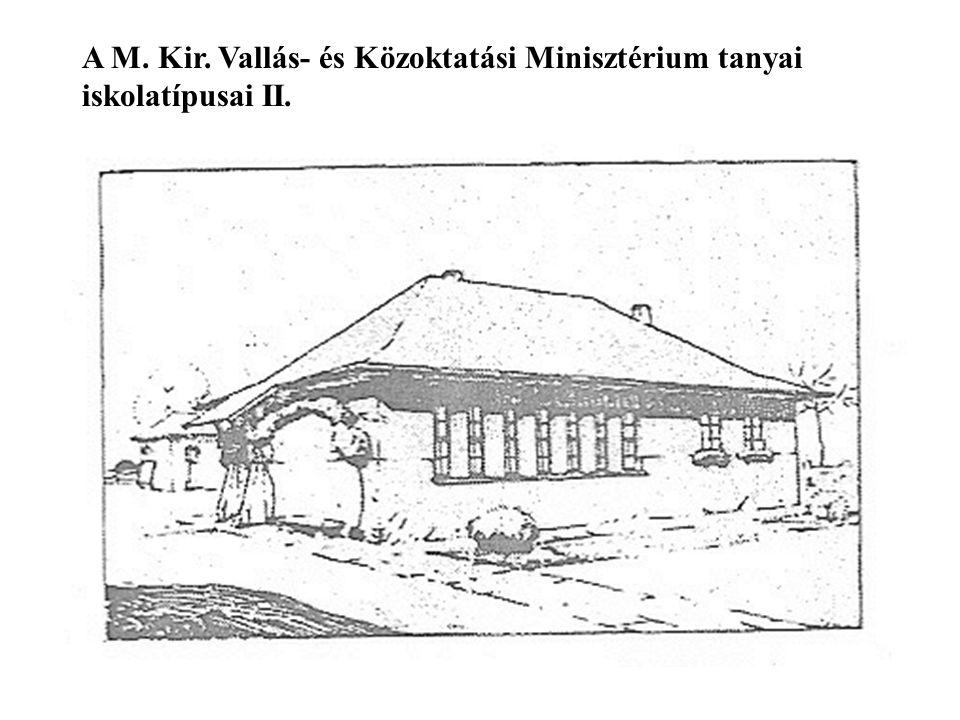 A M. Kir. Vallás- és Közoktatási Minisztérium tanyai iskolatípusai II.
