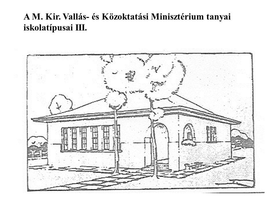 A M. Kir. Vallás- és Közoktatási Minisztérium tanyai iskolatípusai III.
