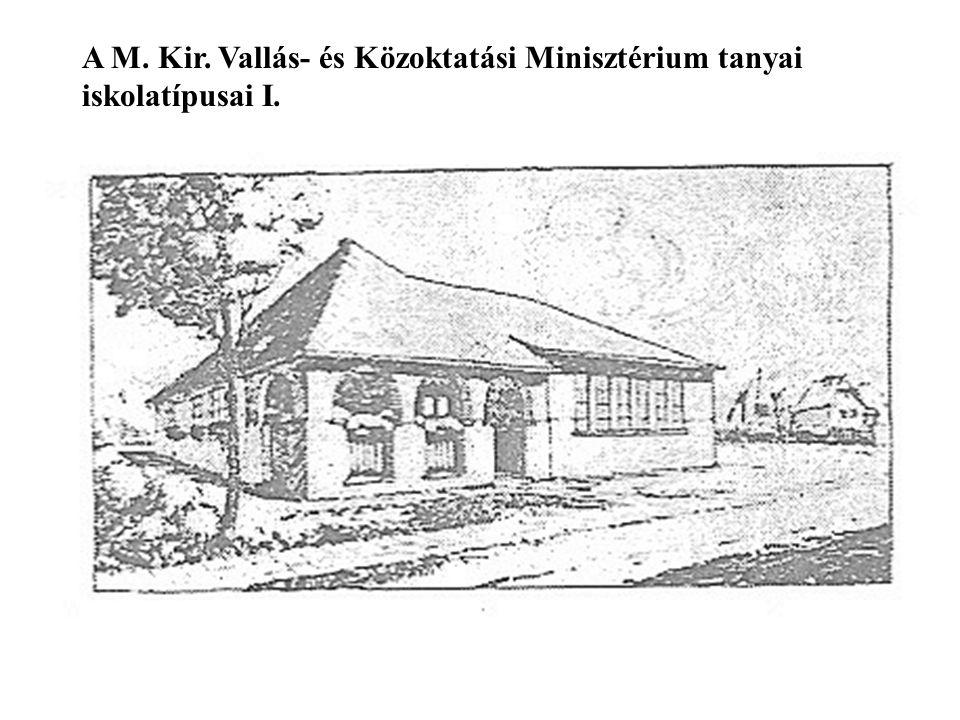A M. Kir. Vallás- és Közoktatási Minisztérium tanyai iskolatípusai I.