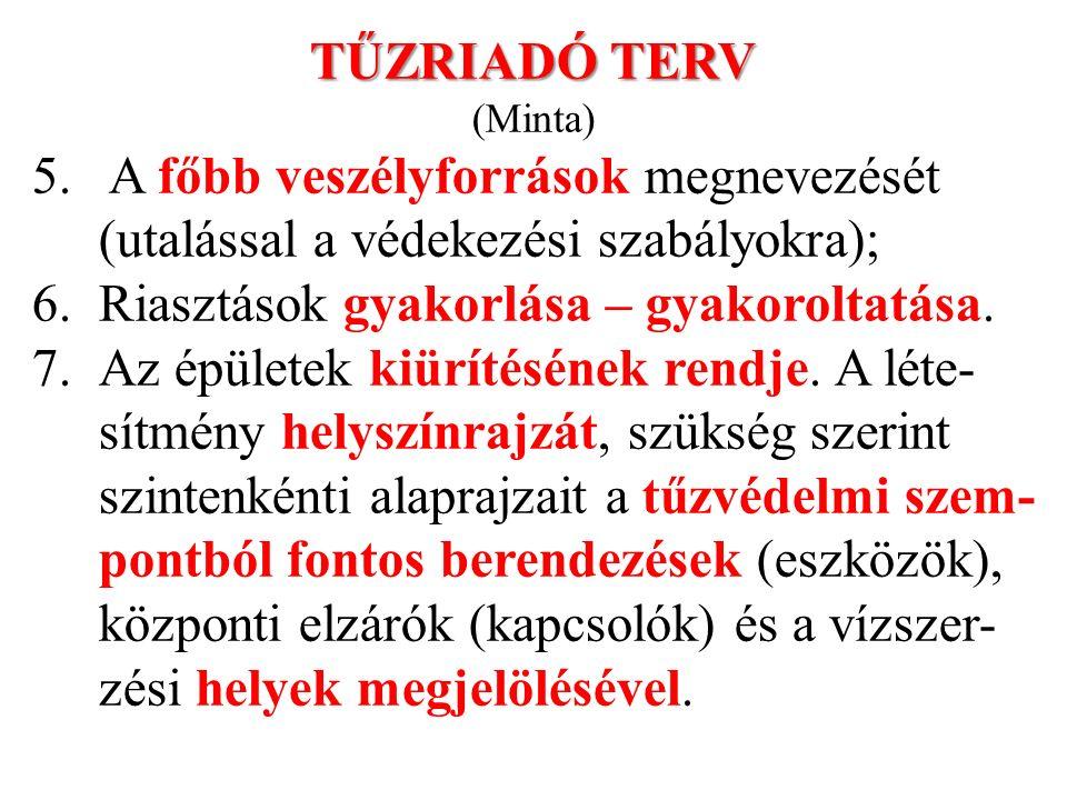 TŰZRIADÓ TERV (Minta) 5.