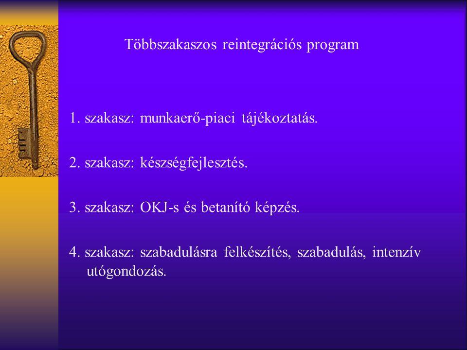 1. szakasz: munkaerő-piaci tájékoztatás. 2. szakasz: készségfejlesztés.