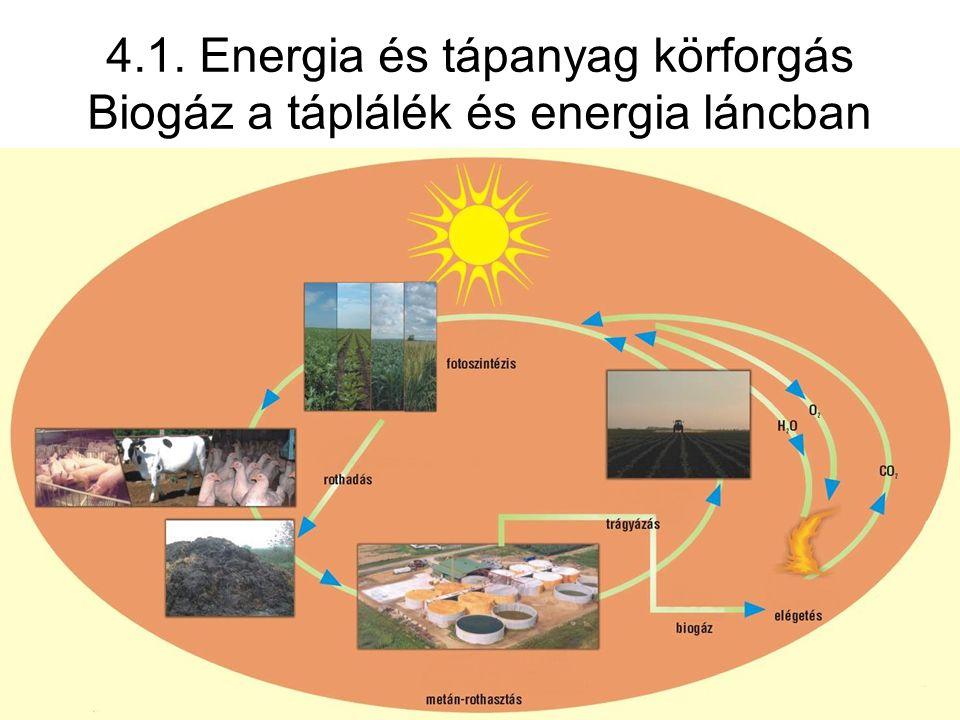 4.1. Energia és tápanyag körforgás Biogáz a táplálék és energia láncban