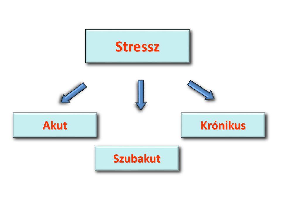 StresszStressz SzubakutSzubakut AkutAkutKrónikusKrónikus