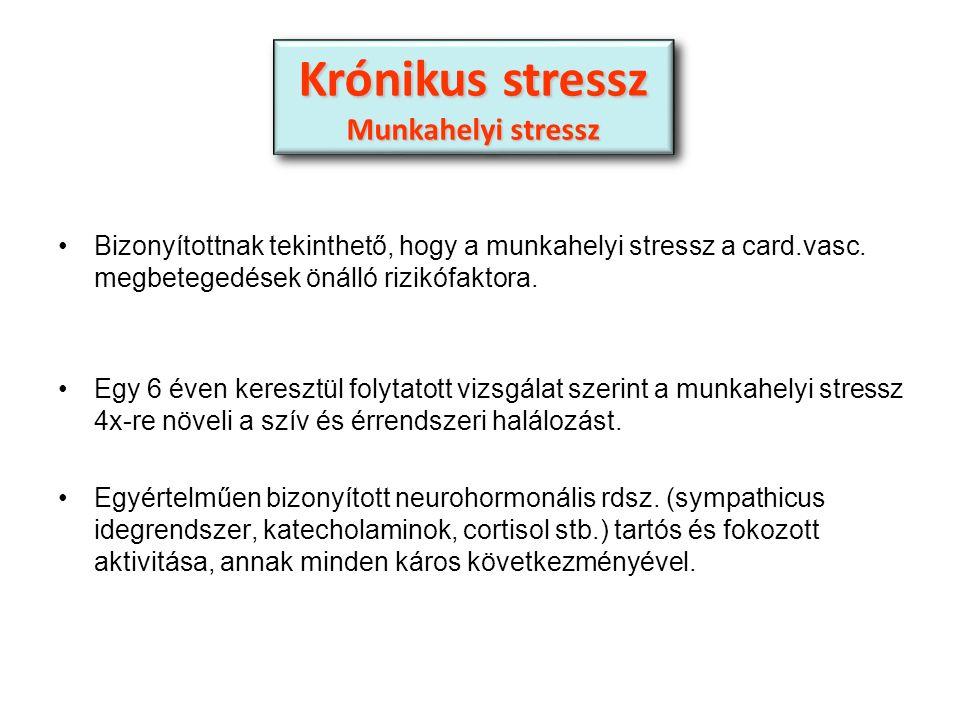 Bizonyítottnak tekinthető, hogy a munkahelyi stressz a card.vasc.