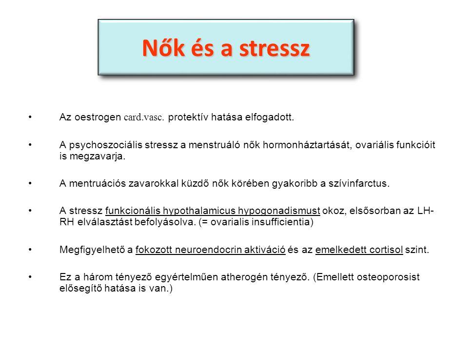 Az oestrogen card.vasc. protektív hatása elfogadott.