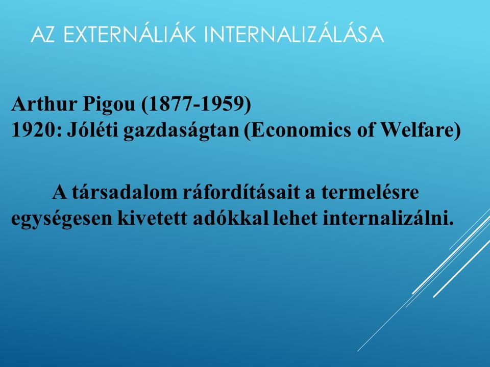Az optimális szennyezési szint közgazdasági tartalma B -az externália gazdaságilag optimális szintje, A +B +C – a magántermelő maximális haszna B+C+D