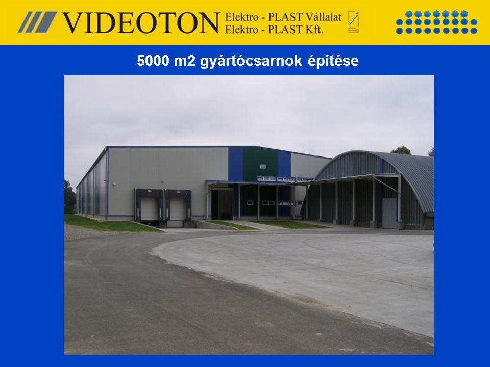 5000 m2 gyártócsarnok építése