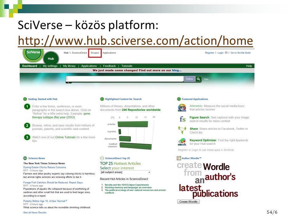 Keresési lehetőségek Általános keresés (Document Search) Szerzőre keresés (Author Search): szerzőkről tudhatunk meg bővebb információkat Intézményre keresés (Affiliation Search) Haladó vagy összetett keresés (Advanced Search) 54/27