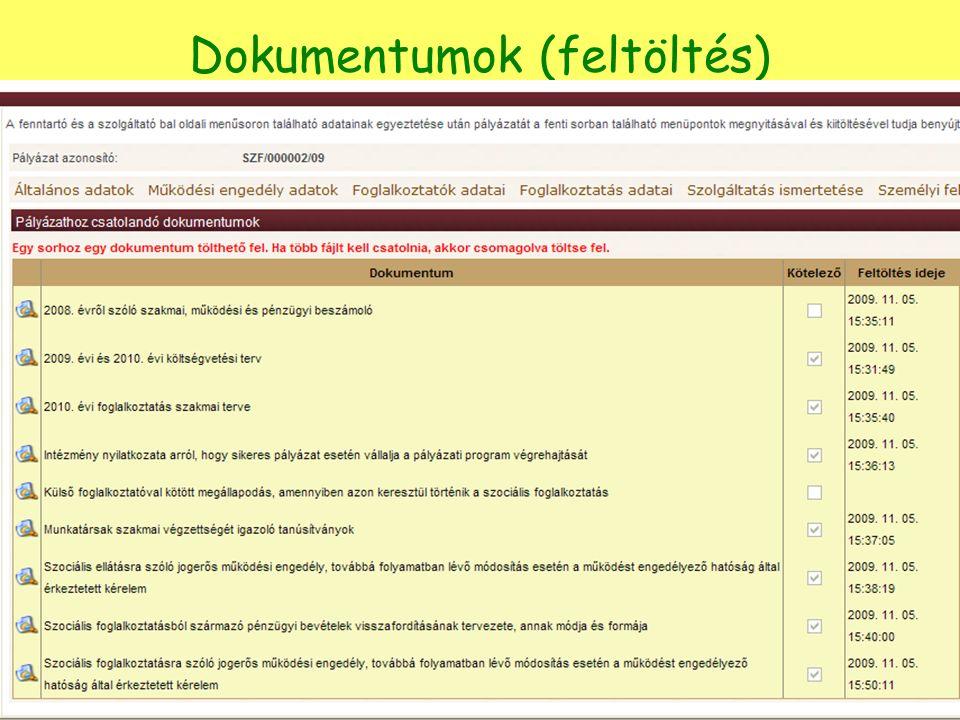 Dokumentumok (feltöltés)