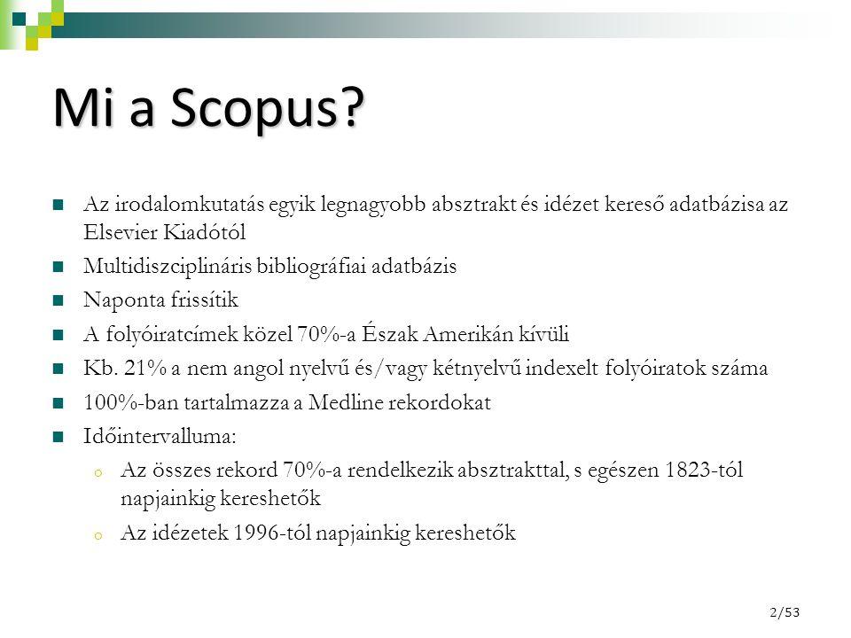 """3/53 Scopus Set up alerts (""""értesítők )  Keresési """"értesítők beállítása."""