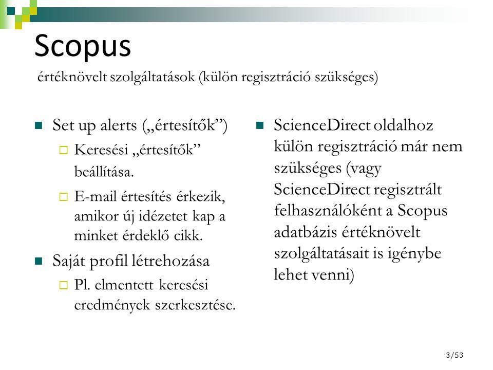 Találati lista a kizárások/szűkítések után 44/53