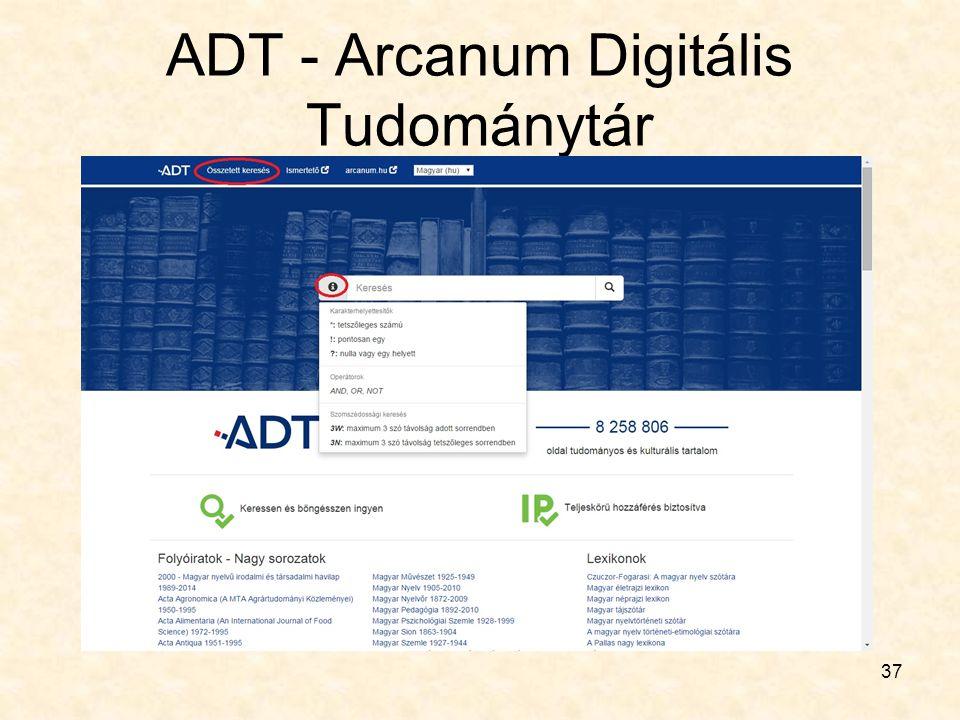 ADT - Arcanum Digitális Tudománytár 37
