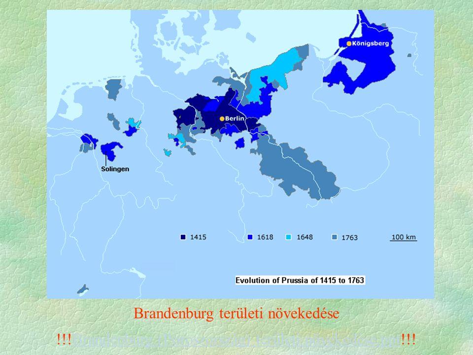 Brandenburg területi növekedése !!!Brandenburg (Poroszország) területi növekedése.ppt!!!Brandenburg (Poroszország) területi növekedése.ppt