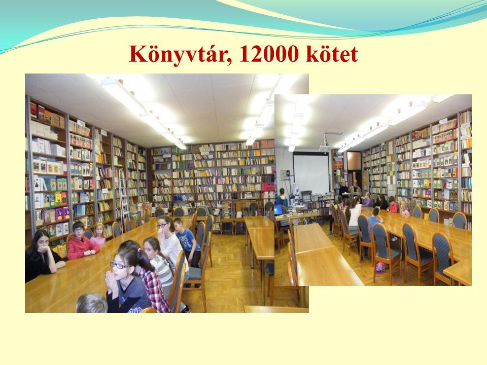 Könyvtár, 12000 kötet