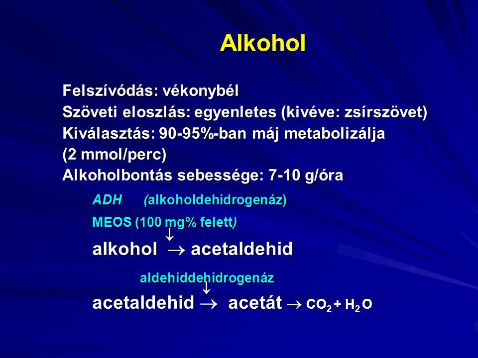 Krónikus alkoholfogyasztás (alkoholizmus) szervkárosító hatásai Immunrendszer  A krónikus alkoholfogyasztás károsítja az immunrendszert,  Károsodik a granulocyták kemotaxisa, a lymphocyták válasza mitogenekre, a természetes killer sejt aktivitás, a T sejtek száma és a tumor necrosis faktor szintje.
