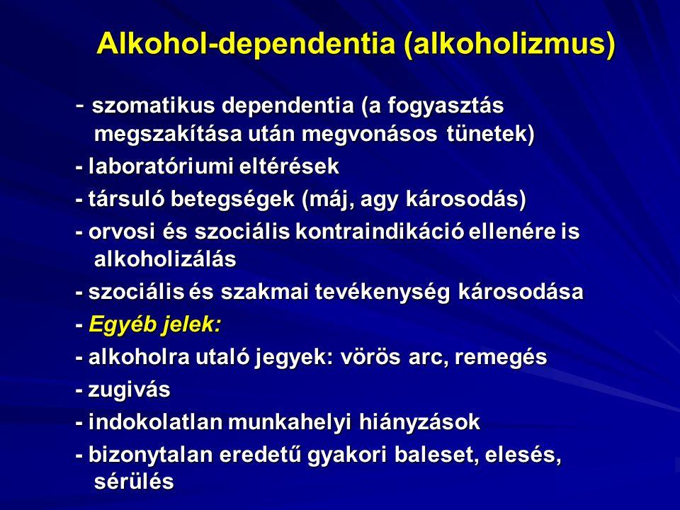 Orvosi tanács:  legyen individuális (életkor, nem, egyéni kockázatok és előnyök alapján),  mérlegeljük a családban előforduló cardiovascularis (hypertonia, stroke, stb.) és a daganatos megbetegedéseket,  a nagy mennyiségű égetett szeszes italt fogyasztók között tanácsadással törekedjünk a tömény szeszes italok arányának csökkentésére, ezeknek alacsonyabb szesztartalmú italokkal történő helyettesítésére,  a nagy alkohol-mennyiséget fogyasztók körében a napi mennyiség csökkentésére (férfiaknál <20 g/nap, nőknél < 10 g/nap)  a kultúrált, az étkezéshez kapcsolódó fogyasztás elfogadtatására.