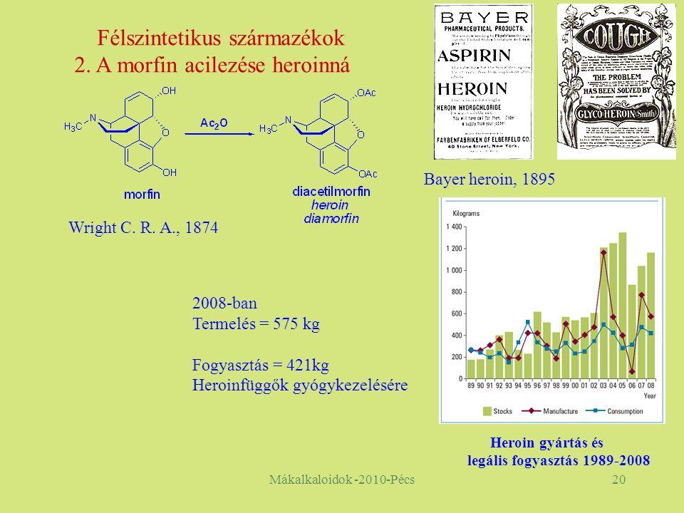 Mákalkaloidok -2010-Pécs20 Félszintetikus származékok 2.
