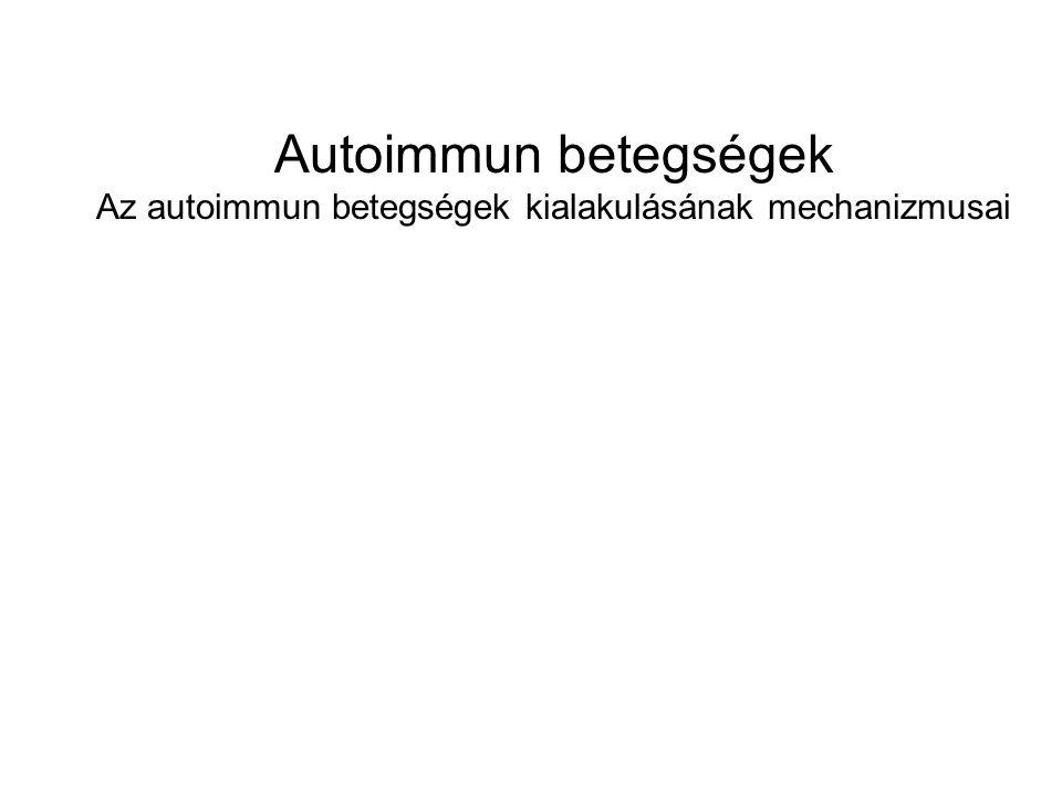 Autoimmun betegségek Az autoimmun betegségek kialakulásának mechanizmusai