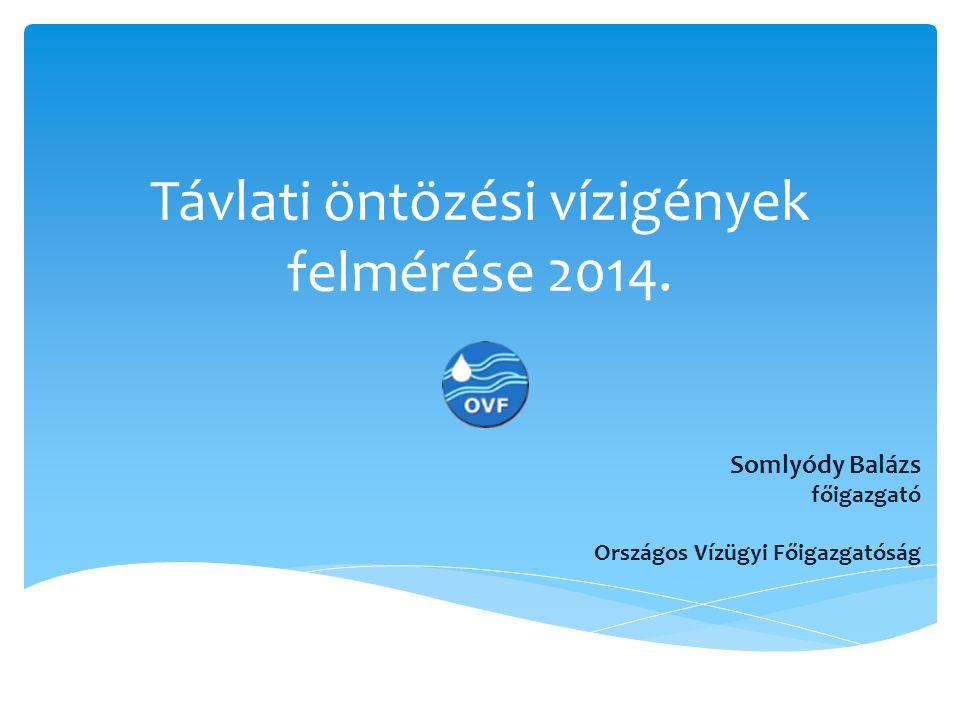 Távlati öntözési vízigények felmérése 2014.
