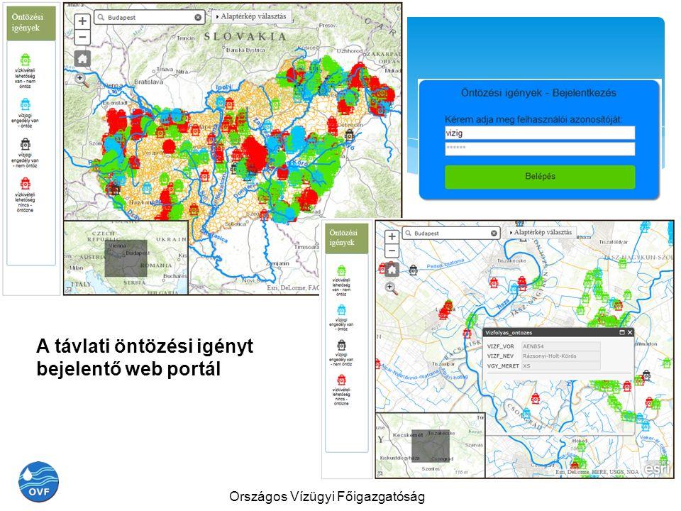 A távlati öntözési igényt bejelentő web portál Országos Vízügyi Főigazgatóság