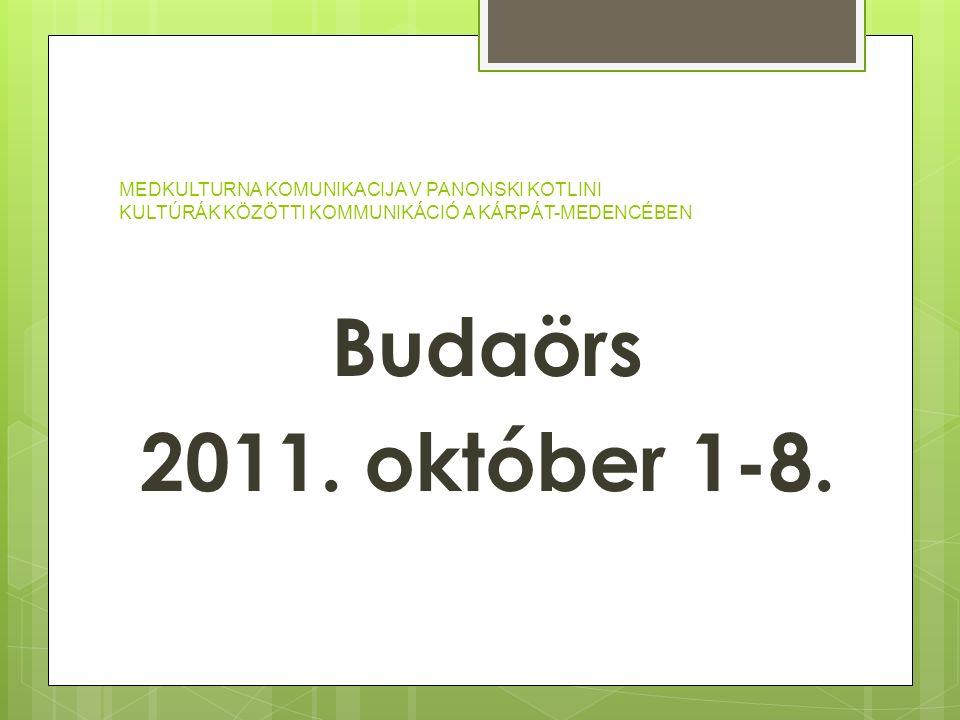 Budaörs 2011. október 1-8.