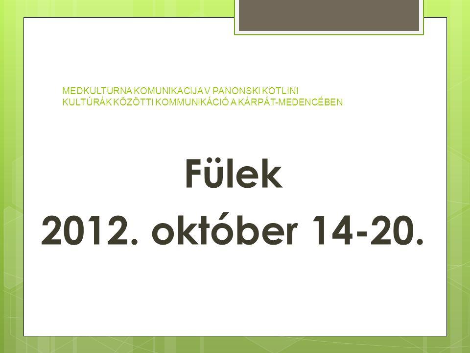 Fülek 2012. október 14-20.