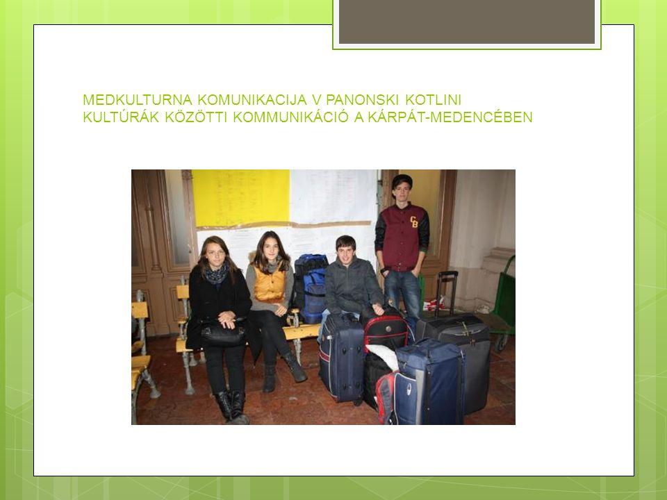 MEDKULTURNA KOMUNIKACIJA V PANONSKI KOTLINI KULTÚRÁK KÖZÖTTI KOMMUNIKÁCIÓ A KÁRPÁT-MEDENCÉBEN