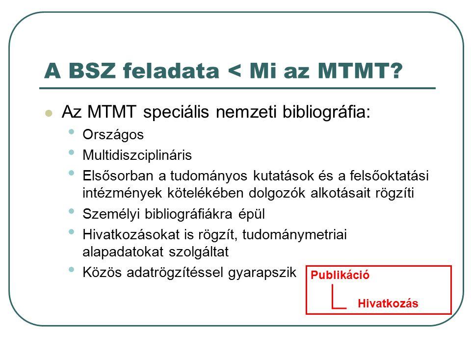 A BSZ feladata < Mi az MTMT.