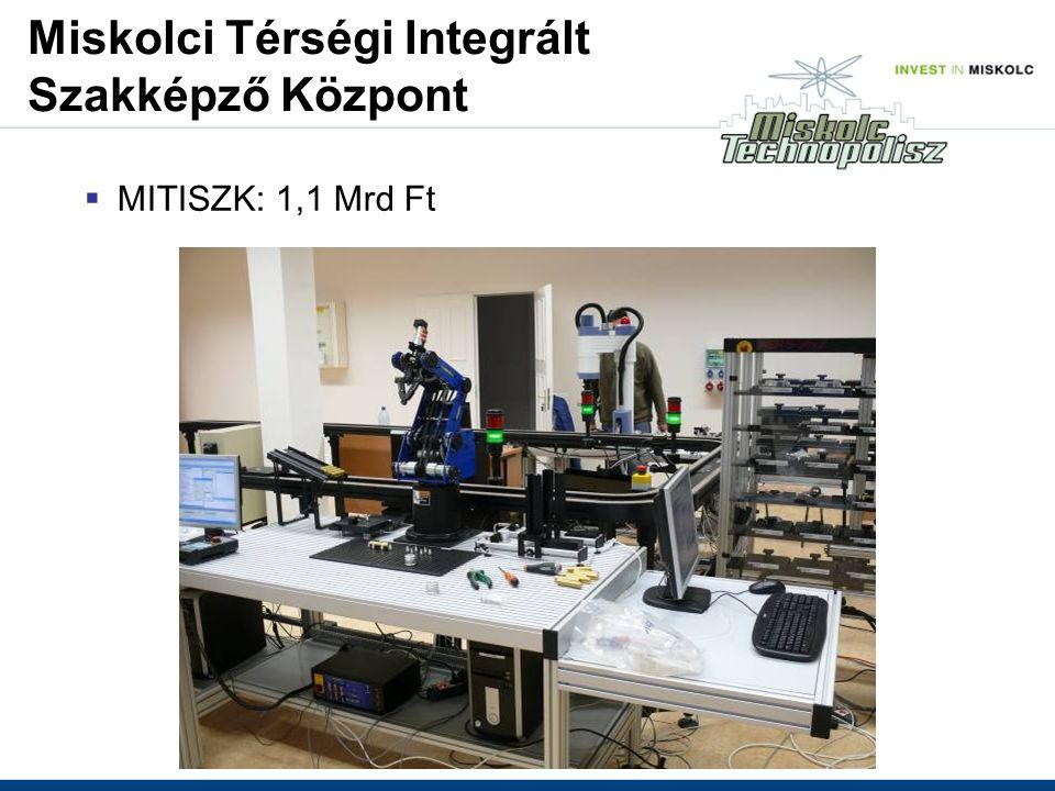 Miskolci Térségi Integrált Szakképző Központ  MITISZK: 1,1 Mrd Ft