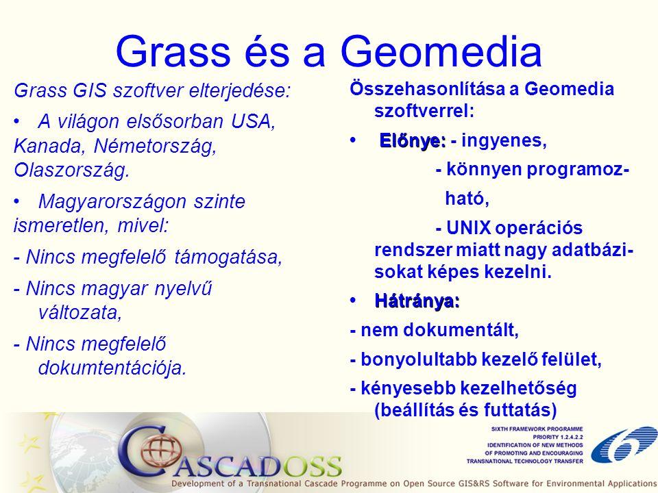 A GRASS 6.1.0 és a Fedora Core 4 Linux kapcsolata A Fedora Core 4 telepítése során a paraméterek beállítása, A szükséges GRASS csomagok és a Fedora Core 4 Linux kiegészítő csomagjainak az összeszedése, A GRASS csomagok feltelepítése megfelelő sorrendben, A GRASS 6.1.0 elindítása.