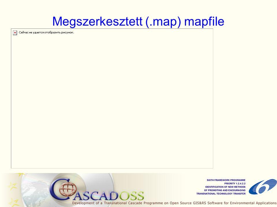 Megszerkesztett (.map) mapfile