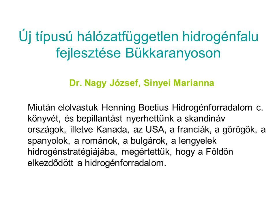 Új típusú hálózatfüggetlen hidrogénfalu fejlesztése Bükkaranyoson Dr.