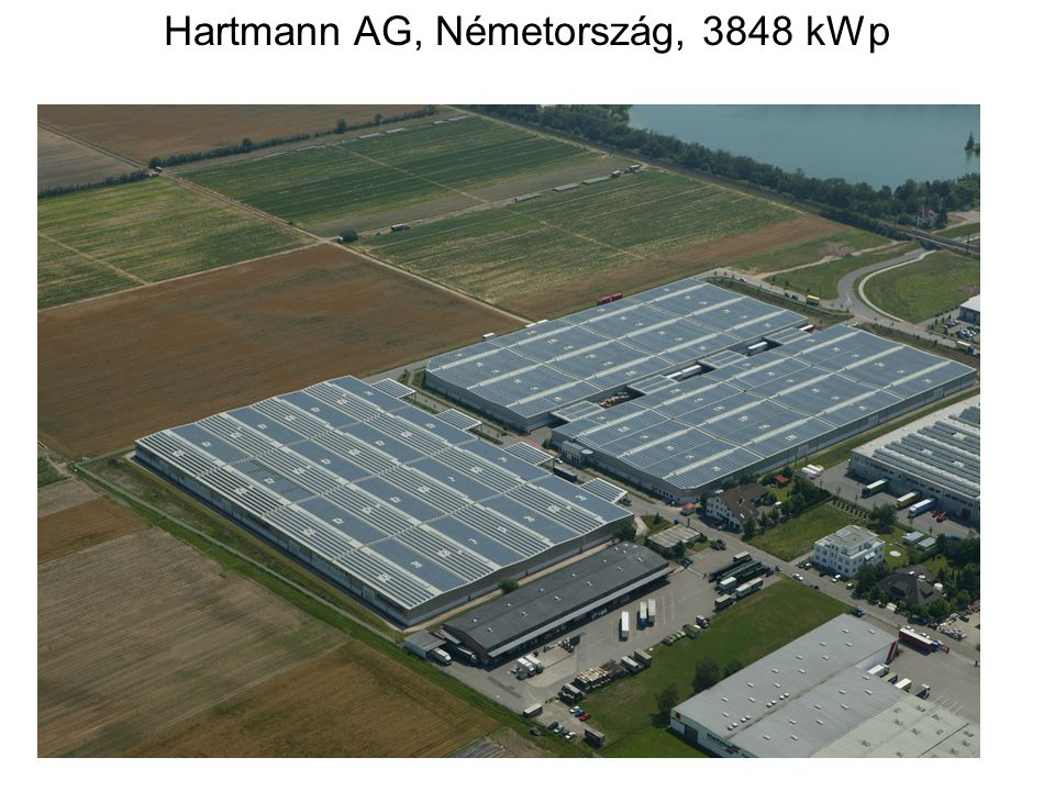 Hartmann AG, Németország, 3848 kWp