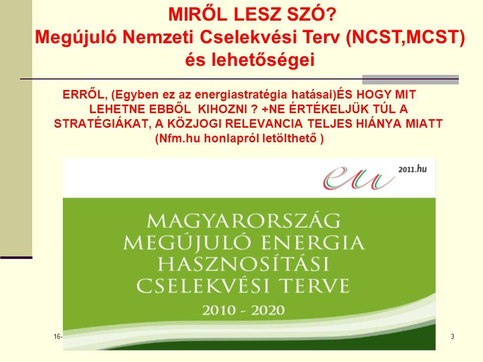 16-szept.-22 Balogh László14 Az NCST genezise:Az EU-RES direktívája