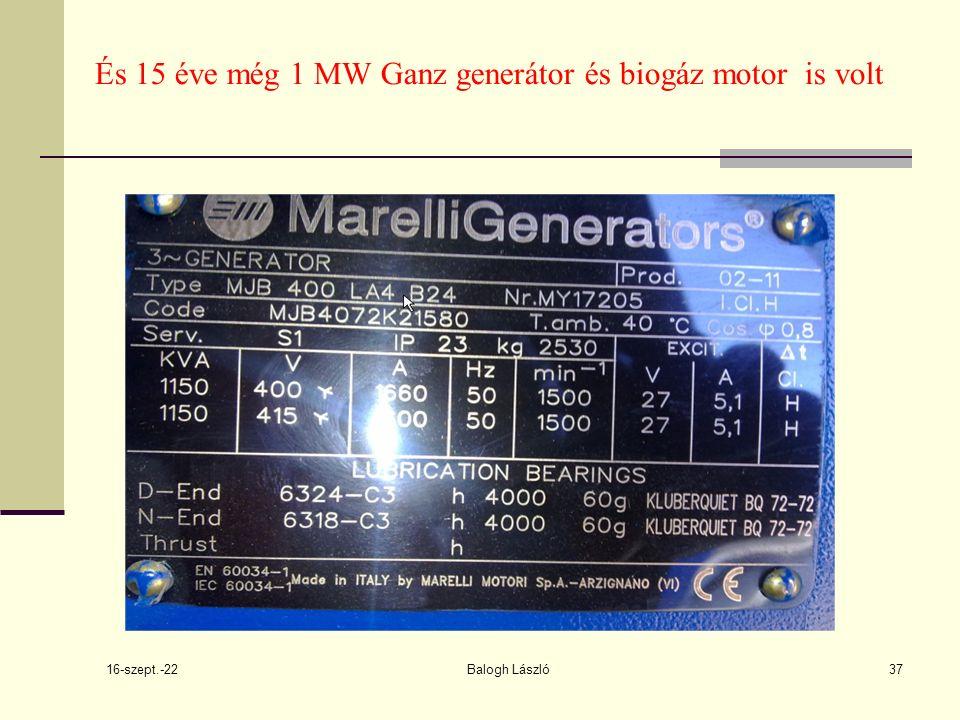 16-szept.-22 Balogh László37 És 15 éve még 1 MW Ganz generátor és biogáz motor is volt