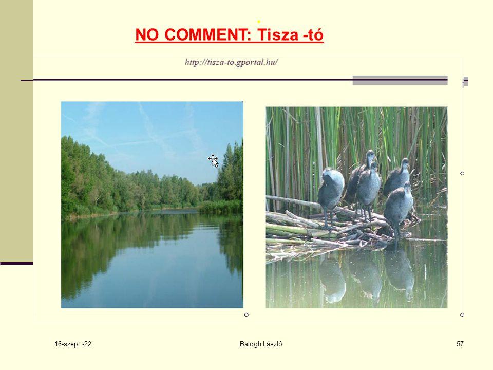 16-szept.-22 Balogh László57. NO COMMENT: Tisza -tó