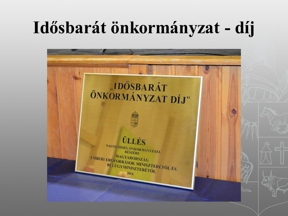 Idősbarát önkormányzat - díj
