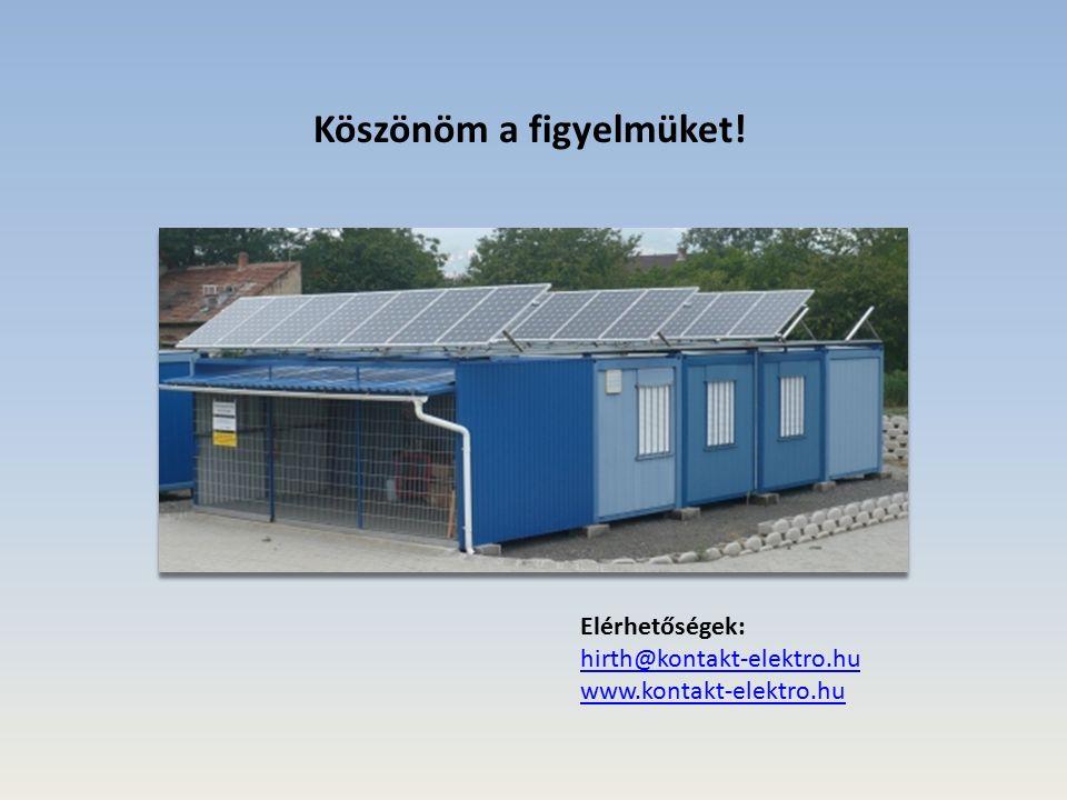 Köszönöm a figyelmüket! Elérhetőségek: hirth@kontakt-elektro.hu www.kontakt-elektro.hu