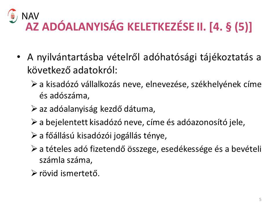 5 AZ ADÓALANYISÁG KELETKEZÉSE II. [4.