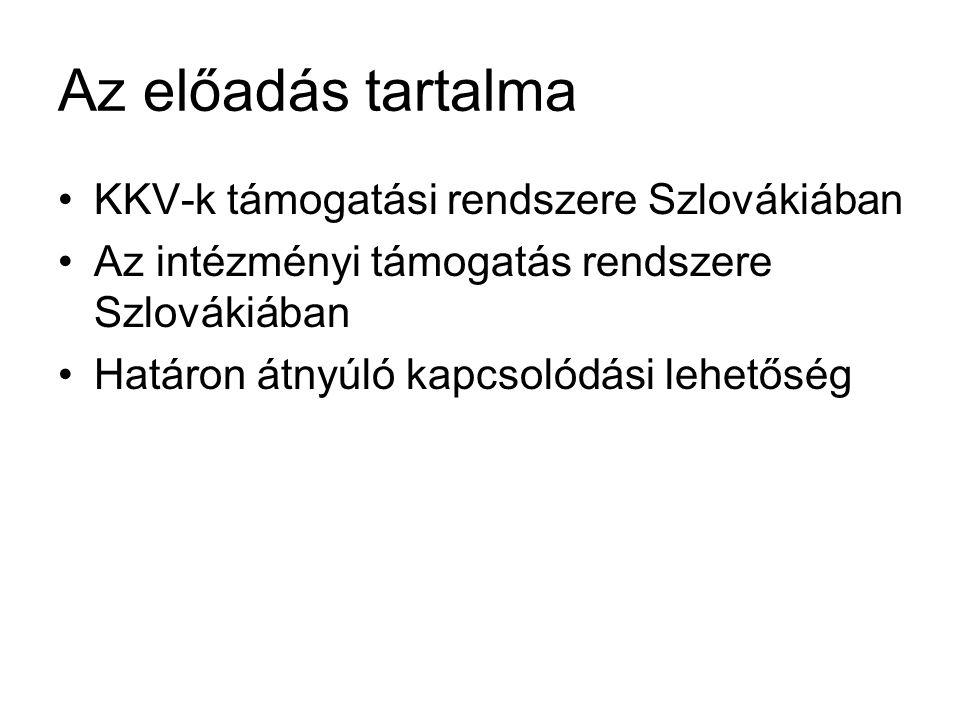 TÁMOGATÁSI FORMÁK Európai Unió támogatási rendszere Nemzeti támogatás rendszere Közvetett támogatás Közvetlen támogatás Közvetett támogatás Tematikus területek - Közlekedés (Marco Polo II) - Kultúra (Culture 2007-2013) - Média (Media 2007-2013) - Energetika - Oktatás (Erasmus, Grundtvig, Leonardo, Comenius) - Innováció (7.