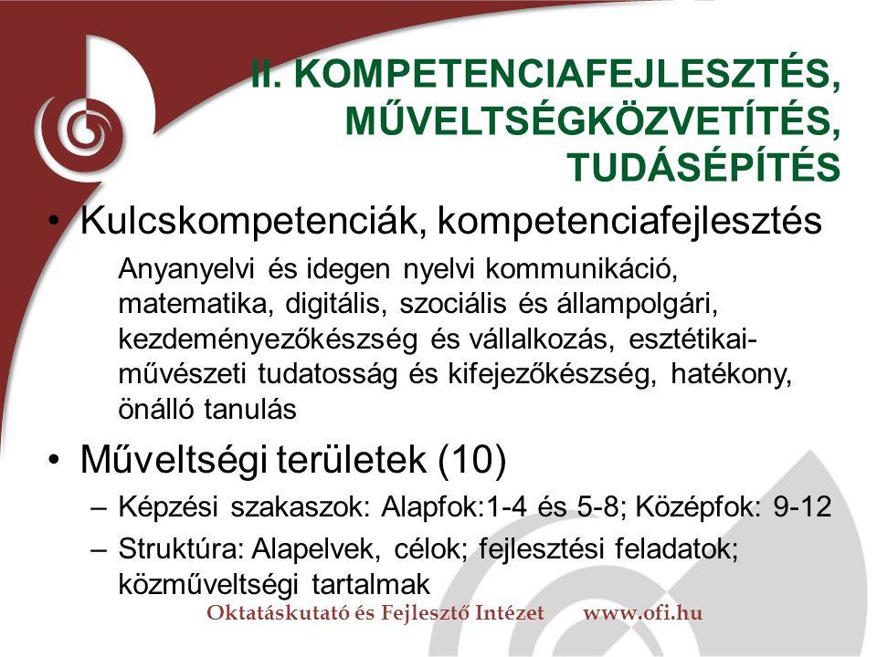 Oktatáskutató és Fejlesztő Intézet www.ofi.hu II.