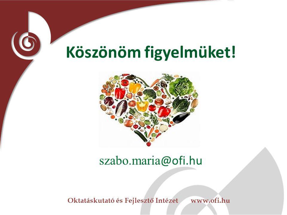 Oktatáskutató és Fejlesztő Intézet www.ofi.hu Köszönöm figyelmüket! szabo.maria @ofi.hu