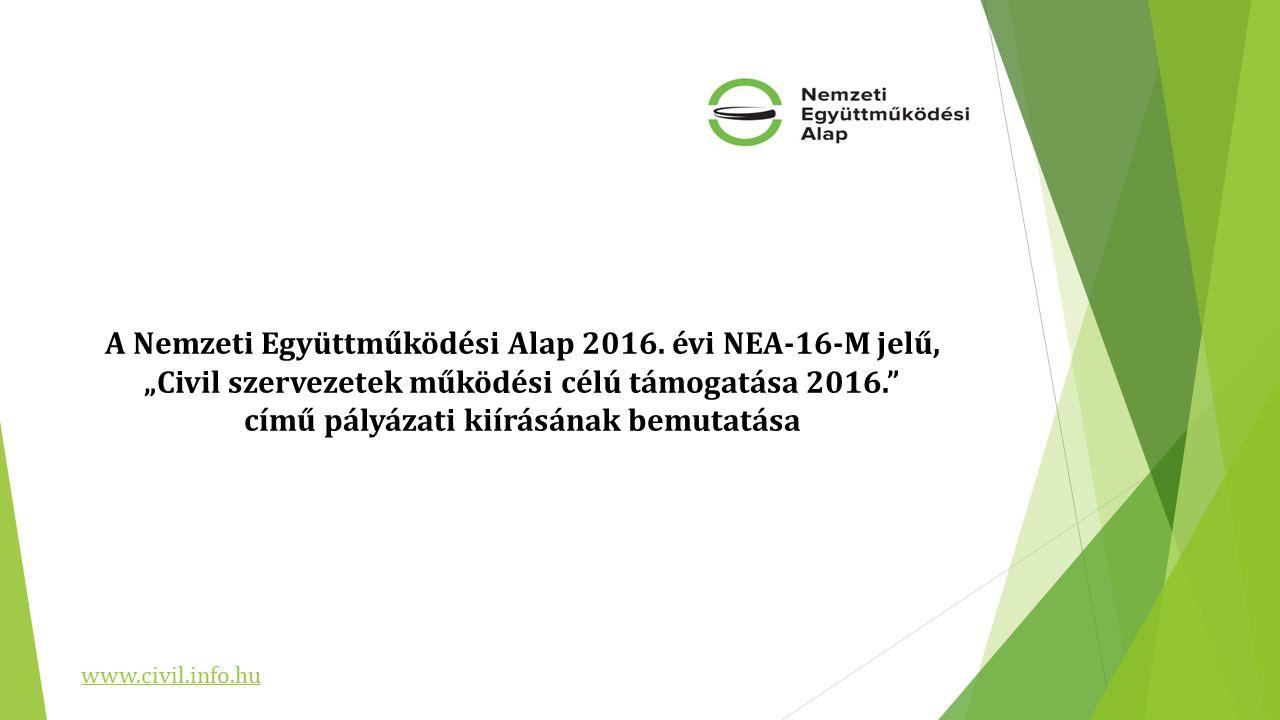 A Nemzeti Együttműködési Alap 2016.