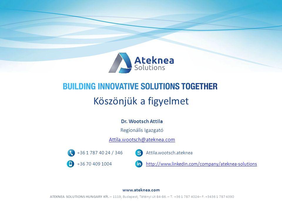 www.ateknea.com ATEKNEA SOLUTIONS HUNGARY Kft. – 1119, Budapest, Tétényi út 84-86.
